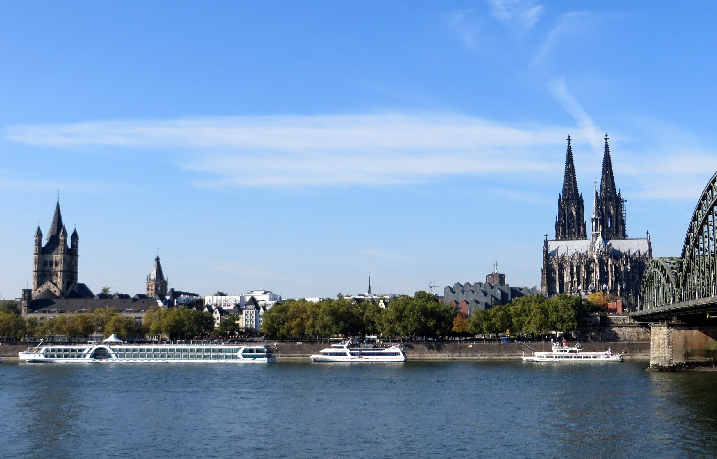 Cologne panorama - Cathedral and Rhine